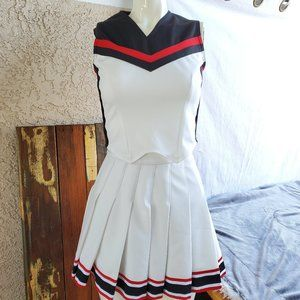 Cheerleader Uniform Crop Top Topped and Skirt XS